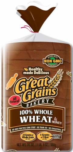 Great Grains Wide Pan 100% Wheat Bread Perspective: front