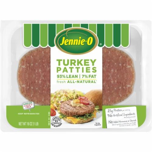 Jennie-O 93% Lean Turkey Burger Patties Perspective: front