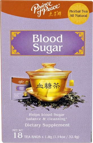 Prince of Peace Blood Sugar Herbal Tea Perspective: front