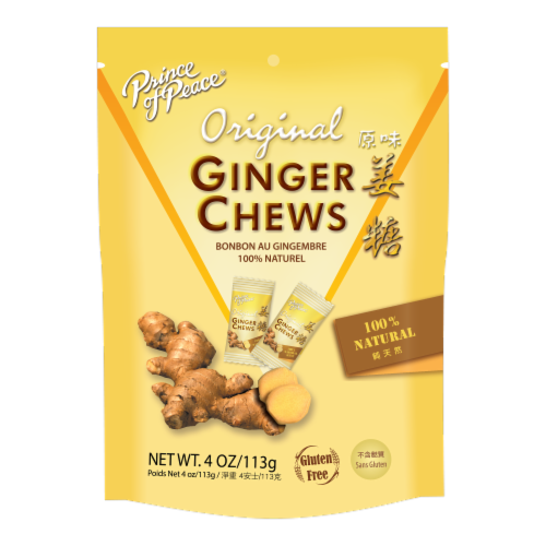 Prince Of Peace - Chews Ginger - 1 Each - 4 OZ - Pack of 3 Perspective: front