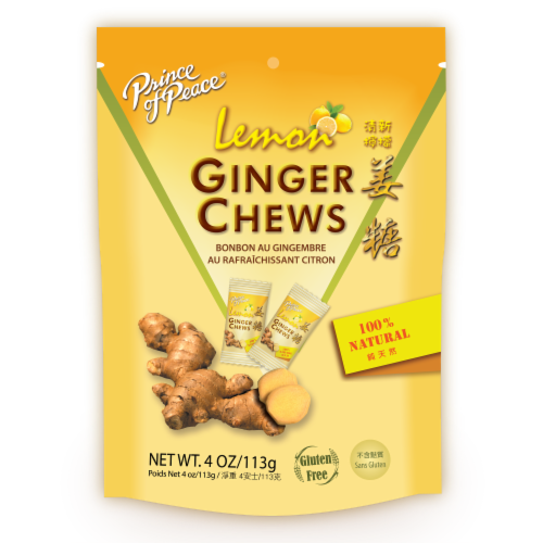 Prince Of Peace - Chews Ginger Lemon - 1 Each - 4 OZ - Pack of 3 Perspective: front