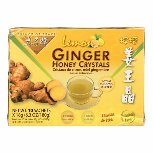 Prince of Peace Ginger Honey Crystals Instant Tea Perspective: front
