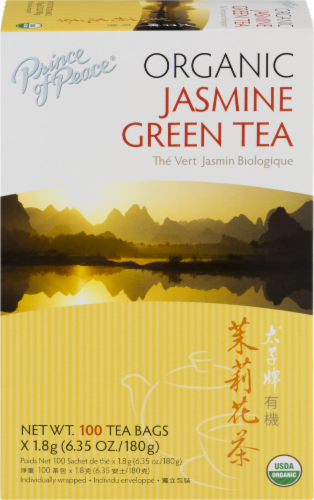 Prince of Peace Organic Jasmine Green Tea Perspective: front