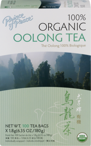 Prince of Peace 100% Organic Oolong Tea Bags Perspective: front