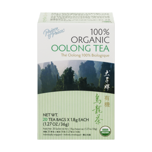 Prince of Peace Organic Oolong Tea Perspective: front