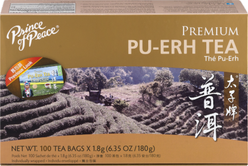 Prince of Peace Pu-erh Tea Perspective: front