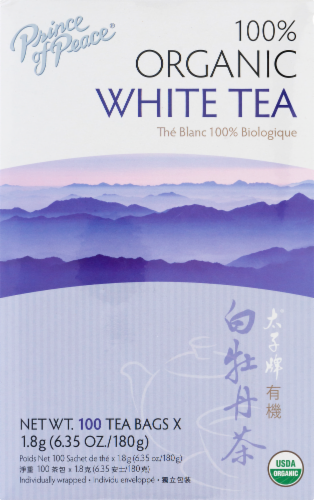 Prince of Peace Organic White Tea Perspective: front