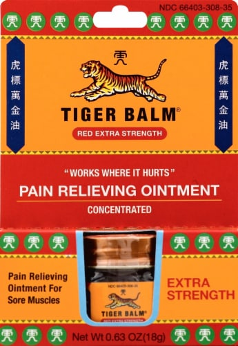 Tiger Balm Extra Strength Ointment Perspective: front
