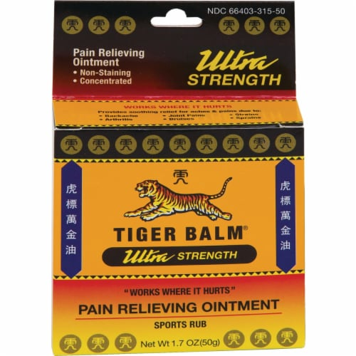 Tiger Balm Pain Relieving Ointment Ultra Strength - Non-Staining - 1.7 oz Perspective: front