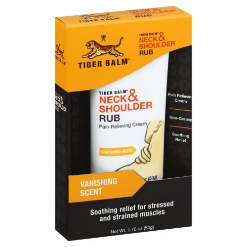 Tiger Balm Neck & Shoulder Rub Pain Relieving Cream Perspective: front