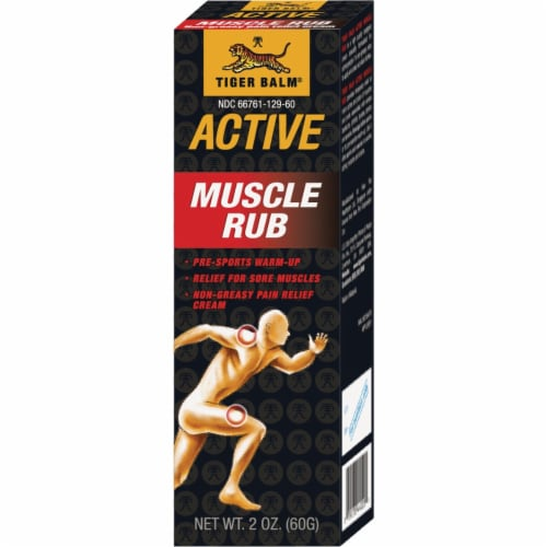 Tiger Balm Muscle Rub Perspective: front