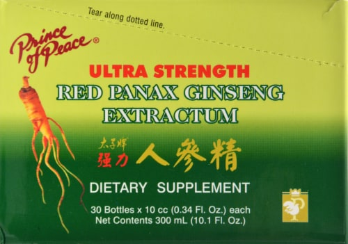 Prince Of Peace Ultr Str Red Panax Ginseng 0.34 Oz Perspective: front