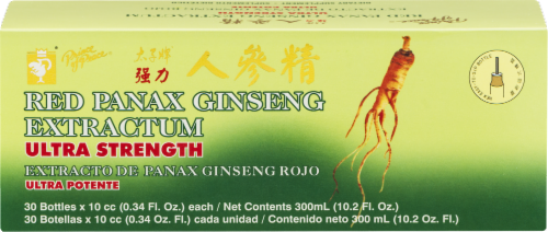 Prince of Peace Ultra Strength Red Panax Ginseng Bottles Perspective: front