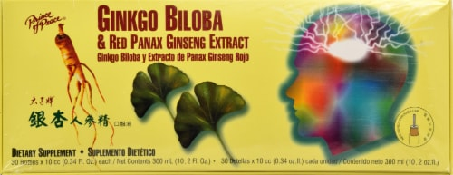 Prince of Peace Ginkgo Biloba & Red Panax Ginseng Extract Perspective: front
