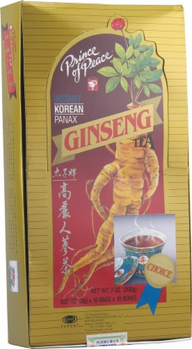 Prince of Peace Instant Korean Panax Ginseng Tea Perspective: front