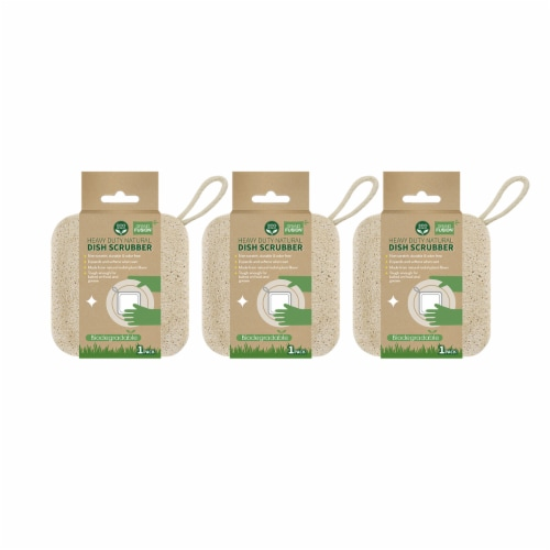 Grand Fusion Biodegradable Heavy Duty Non Scratch Dish Scrubber Pads - 3 Pack Perspective: front