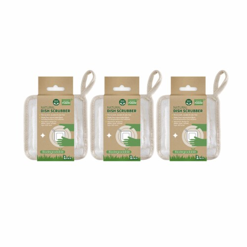 Grand Fusion Biodegradable Non Scratch Dish Scrubber Pads - 3 Pack Perspective: front