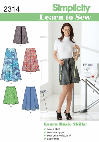 Simplicity Misses Skirts & Pants-6-8-10-12-14-16-18 Perspective: front
