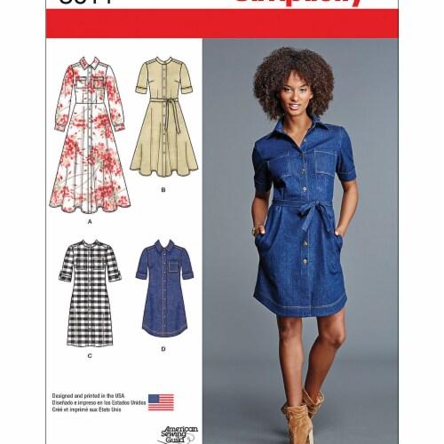 Simplicity Patterns US8014H5 6-12 Misses Shirt Dress Perspective: front