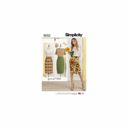 Simplicity Patterns US8652H5 Vintage Misses Skirts Pattern Perspective: front