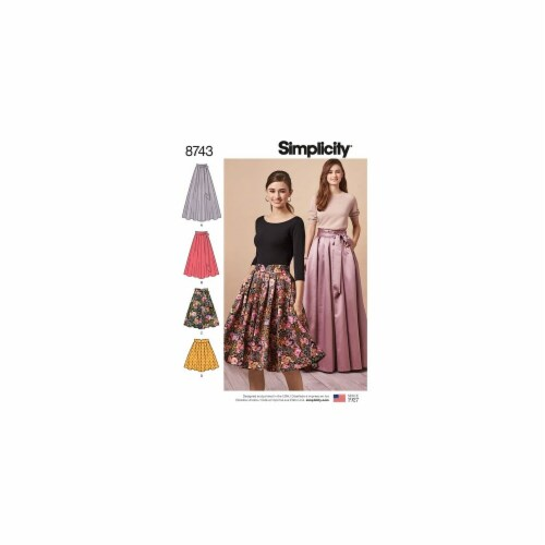 Simplicity Patterns US8743H5 Misses Pleated Skirts Pattern Perspective: front