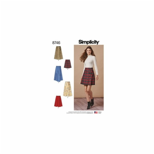Simplicity Patterns US8746H5 Misses Wrap Skirts Pattern Perspective: front