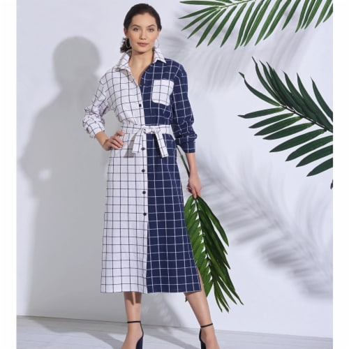 Simplicity US8908H5 Sewing Pattern Womens Shirt Dress, Size H5 Perspective: front