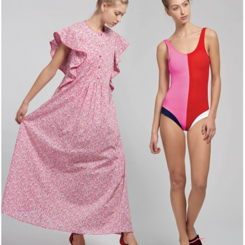 Simplicity US8928D5 Womens Swimsuit & Caftans, Size D5 Perspective: front