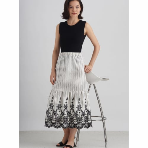 Simplicity US8929A Womens Skirt with Options for Design Hacking, Size A Perspective: front