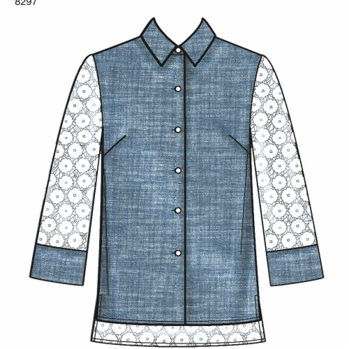 Simplicity Patterns US8297R5 Misses Classic Shirts Pattern, R5 - 14-16-18-20-22 Perspective: front