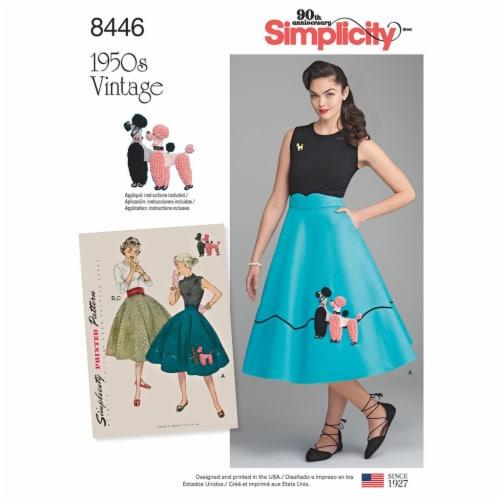 Simplicity Misses Vintage Skirt & Cummerbund-16-18-20-22-24 Perspective: front