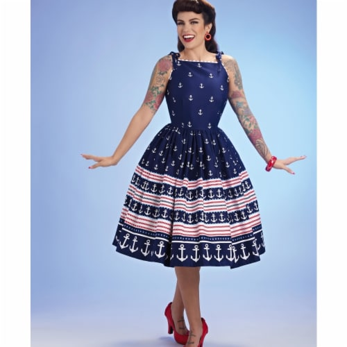 Simplicity US8873P5 Womens Sewing Pattern Gertie Dress, Size P5 Perspective: front