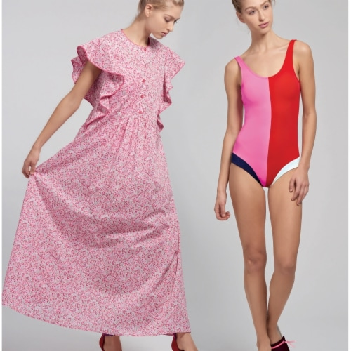 Simplicity US8928P5 Womens Swimsuit & Caftans, Size P5 Perspective: front