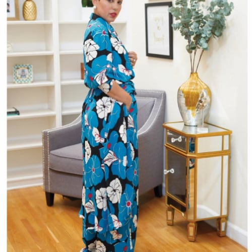 Simplicity Patterns US8985BB 20-24W G Style Misses & Womens Duster Coat or Dress & Pants Perspective: front