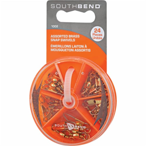 South Bend® Assorted Brass Snap Swivels Perspective: front