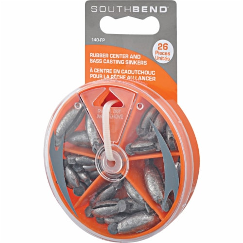 South Bend® Rubber Center Sinker Kit Assortment Perspective: front