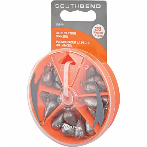 South Bend® Bass Casting Sinker Kit Assortment Perspective: front