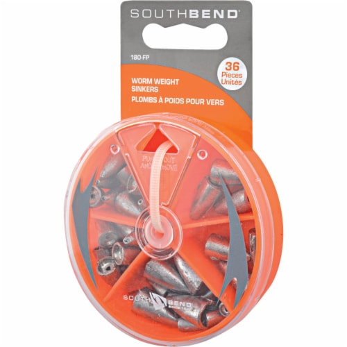 South Bend® Worm Weights Sinker Kit Assortment Perspective: front