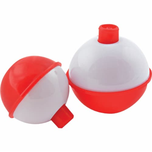 South Bend® Assorted Red & White Push-Button Fishing Bobber Floats Perspective: front