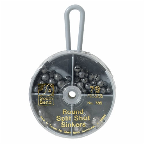 South Bend® Round Split Shot Sinker Kit Assortment Perspective: front