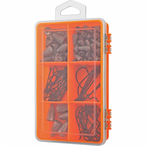 South Bend® Assorted Worm Weight & Hook Kit Perspective: front