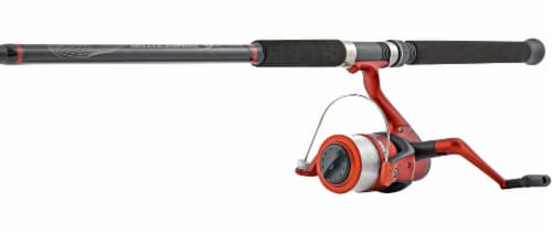South Bend® Competitor Spinning Combo Rod and Reel - Red/Black Perspective: front