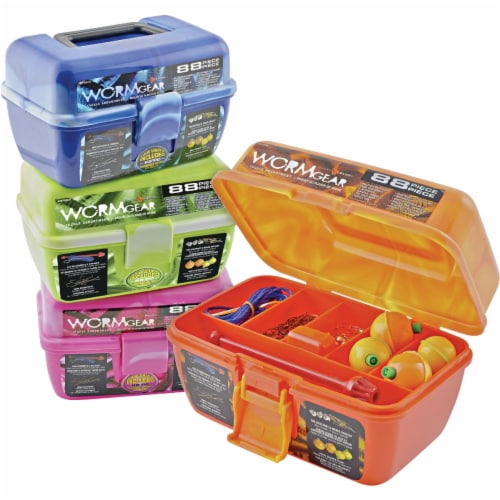 South Bend® Worm Gear 7-Compartment Tackle Box with Tackle Perspective: front