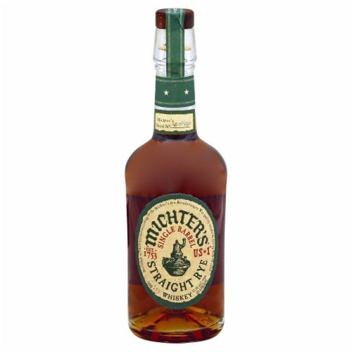 Michter's Single Barrel Straight Rye Whiskey Perspective: front