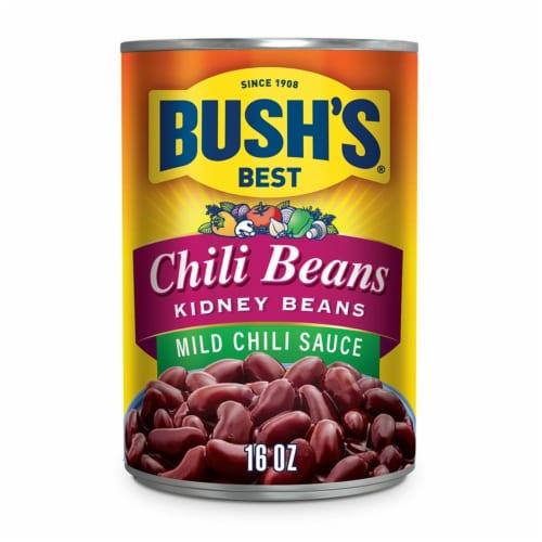Bush's Best Mild Chili Sauce Kidney Beans Perspective: front
