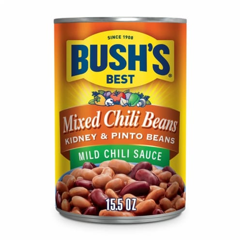 Bush's Best Mild Mixed Chili Beans Perspective: front