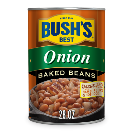 Bush's Best Baked Beans with Onion Perspective: front