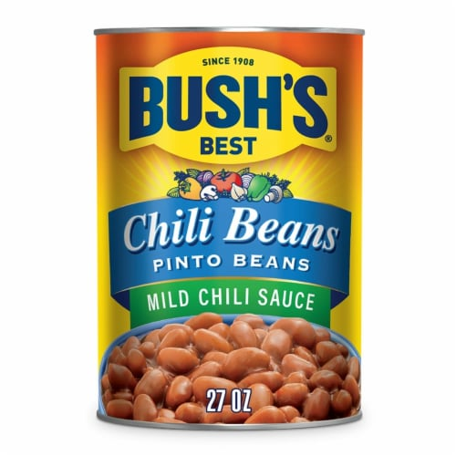 Bush's Best Pinto Chili Beans in Mild Sauce Perspective: front