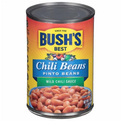 Bush's Best Mild Chili Sauce Pinto Beans Perspective: front