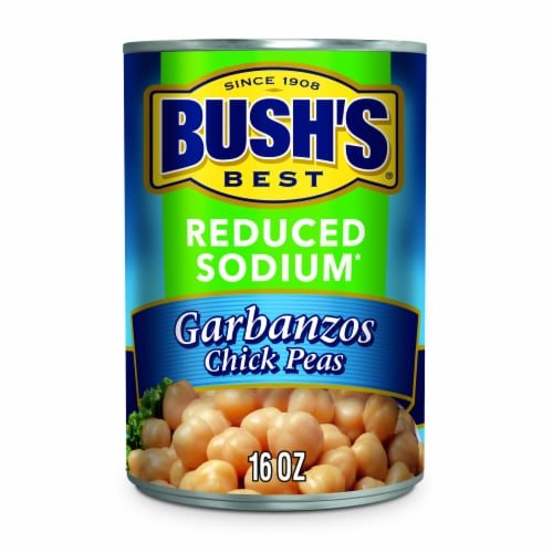 Bush's Best Reduced Sodium Garbanzo Beans Perspective: front